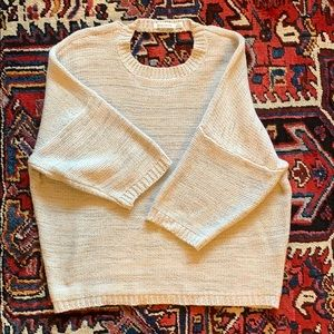 Bishop and Young - Mauve Sweater with Neck Detail